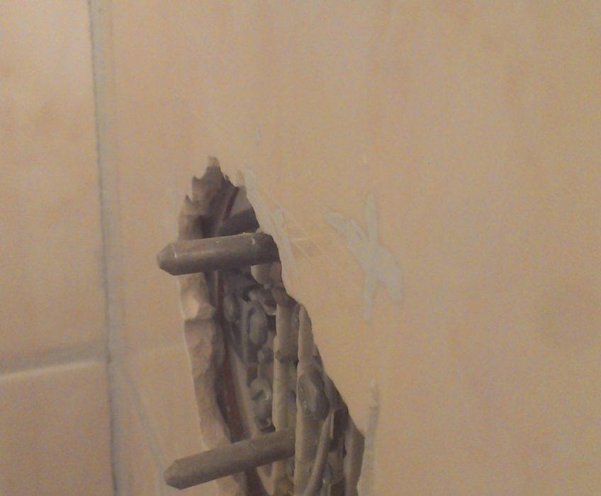 Zednické-instalatérské práce v koupelně