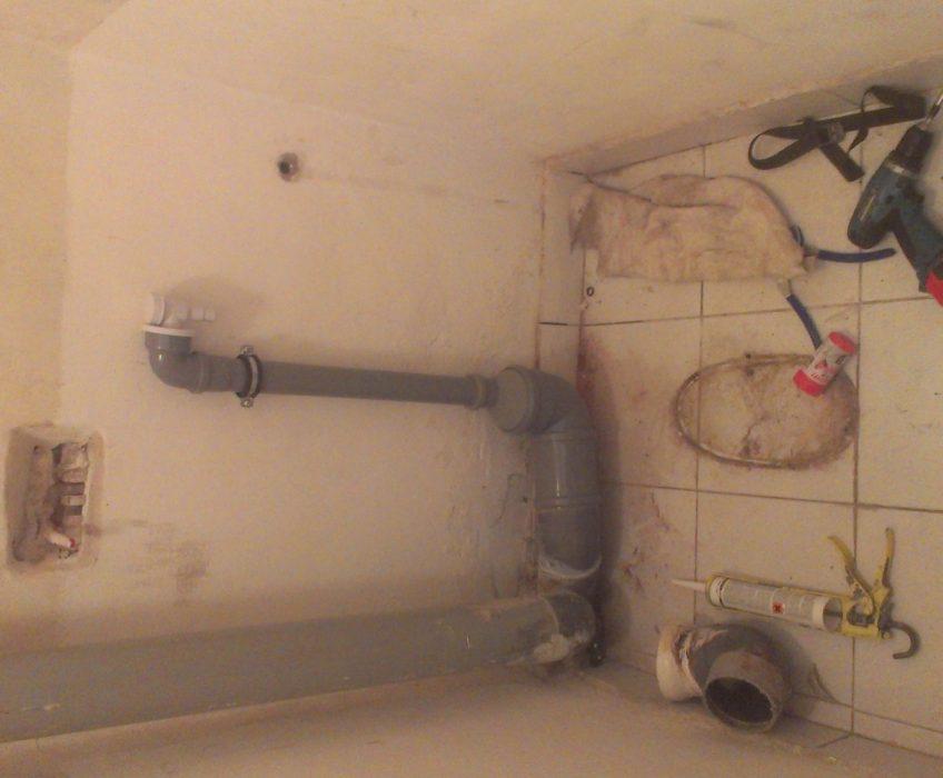 Odstranění WC , zhotovení přípojky odpadu