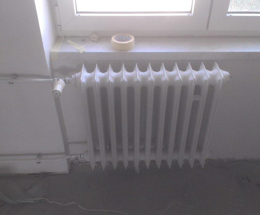 Montáž radiátorů