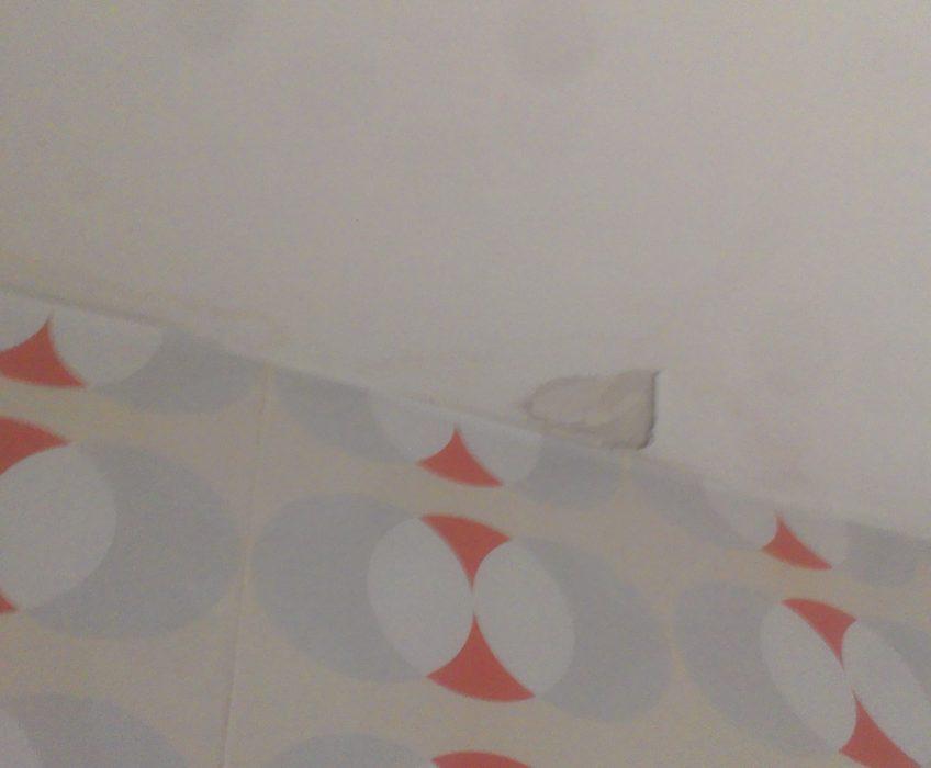 Stržení starých tapet a malířské práce