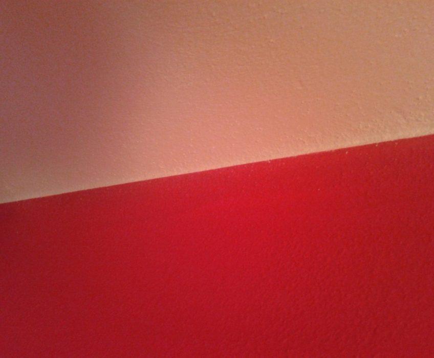 Stěna malby po zarovnání