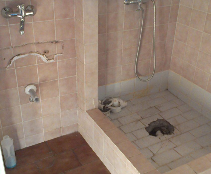 Oprava odtoku sprchového koutu