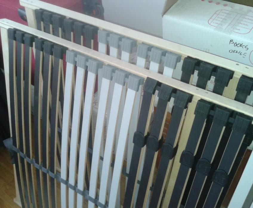 Montáž postelových roštů