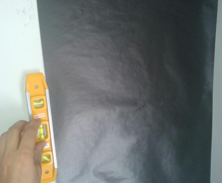 Uvedení počátečního dílu fototapety do roviny