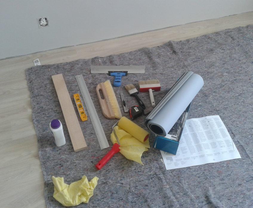 Potřeby pro tapetování