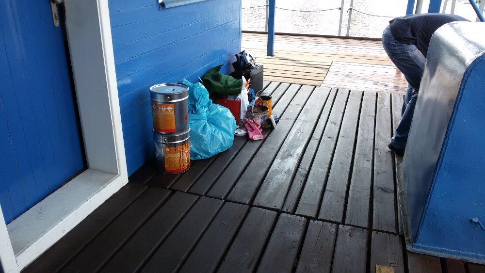 Výsledný stav opravy pontonu