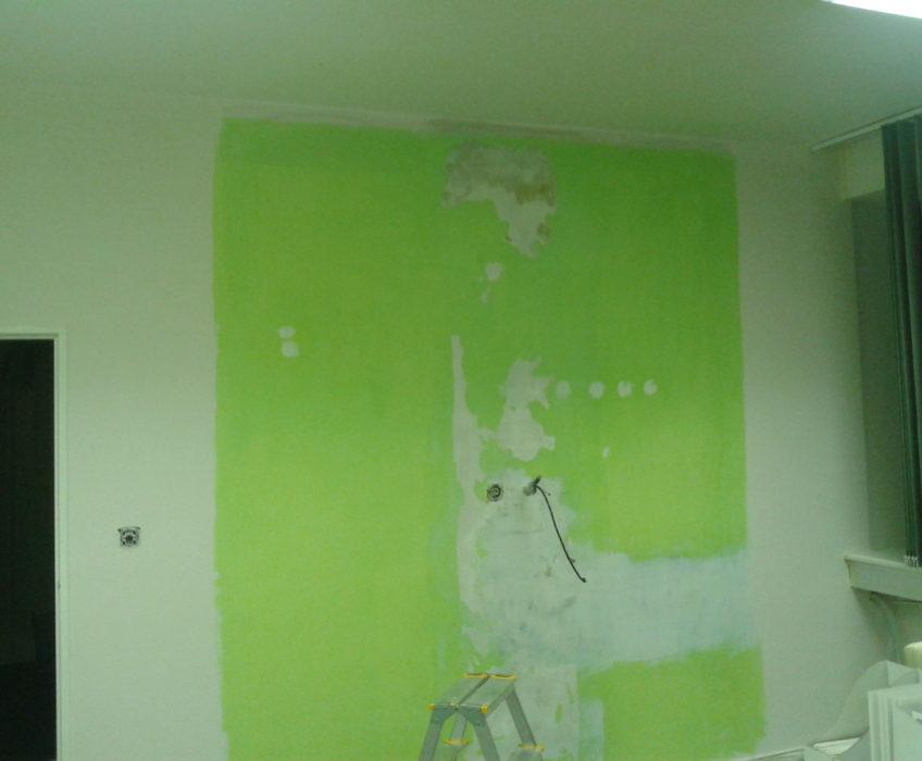 Stěna před tapetováním