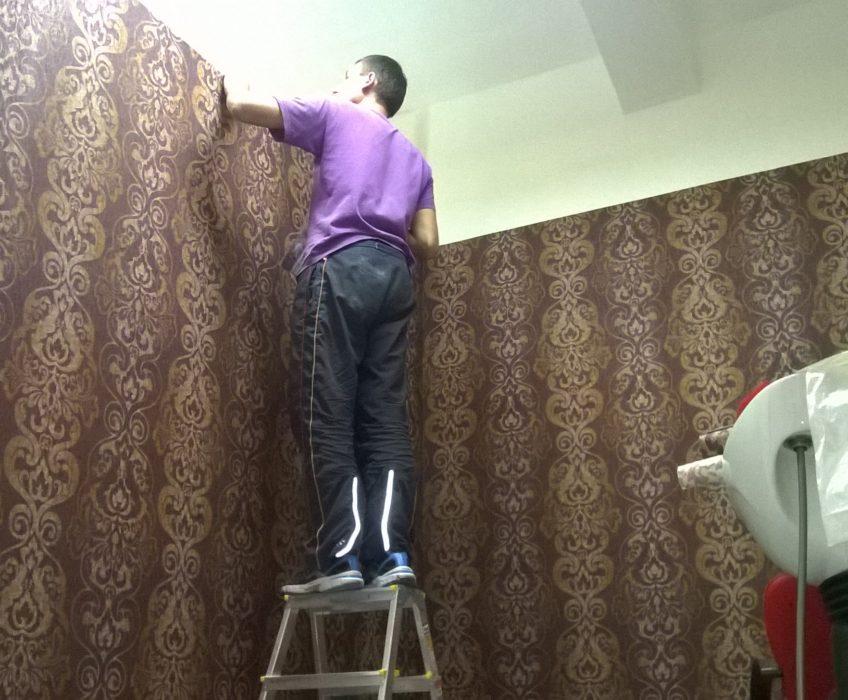 Zarovnávání horního okraje tapet