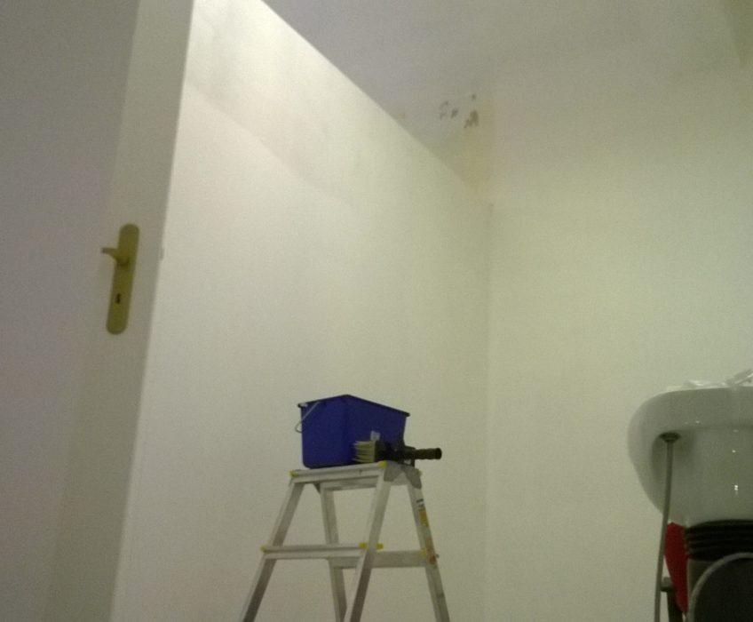Penetrování zdi před tapetováním