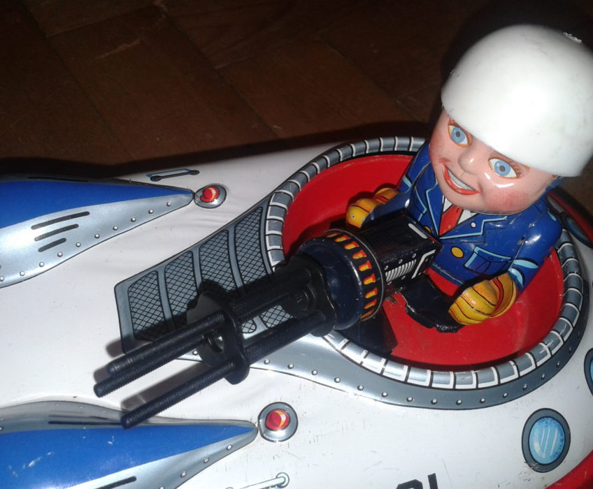 Oprava hračky,výroba repliky kulometu Japonské hračky člunu