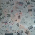 Tapetování novinovým papírem