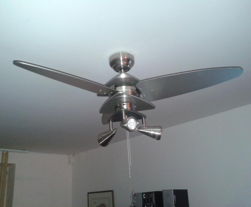Montáž ventilátoru na strop
