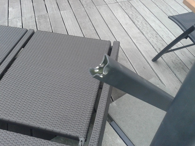 Oprava ramene slunečníku