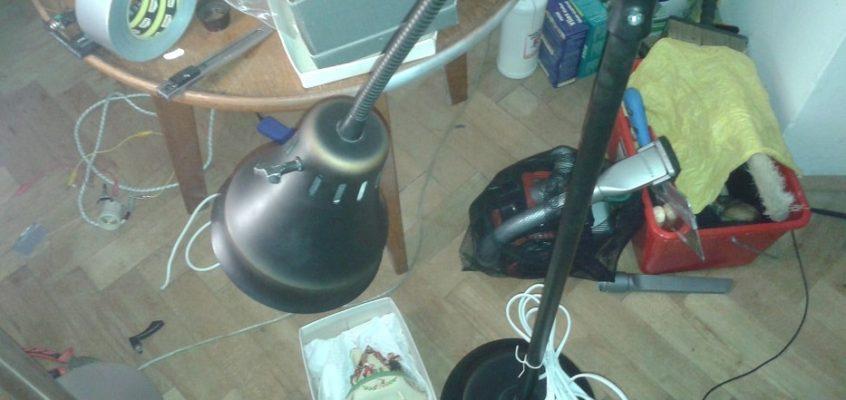 Oprava vypínače lampy