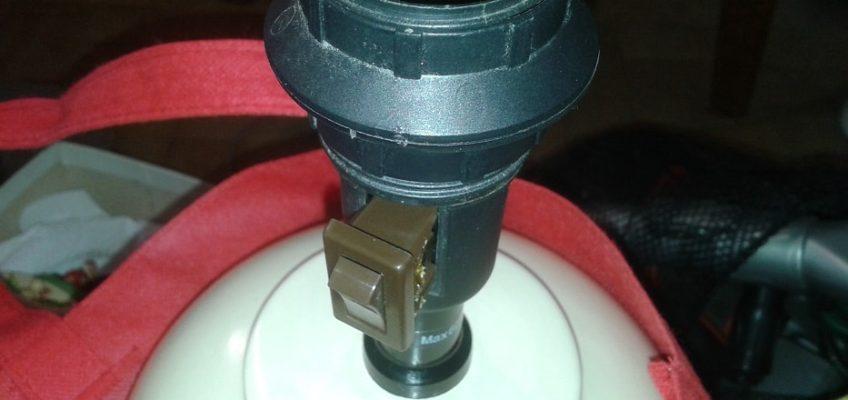 Výměna vypínače lampy