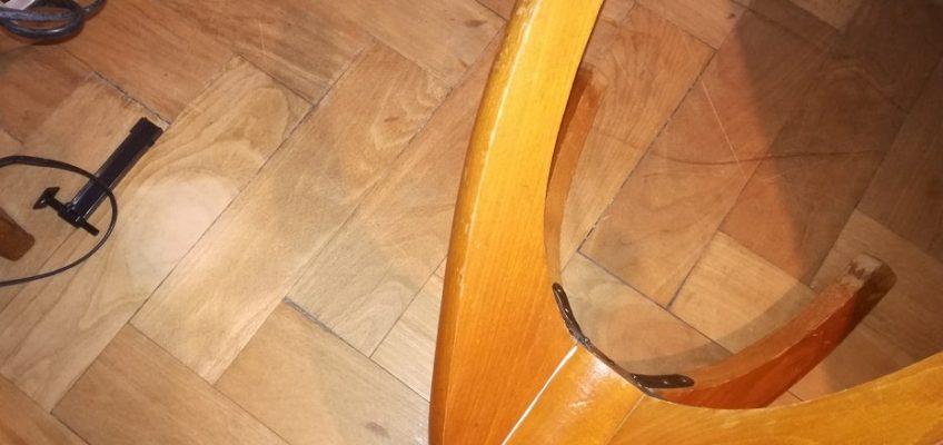 Oprava nohy židličky