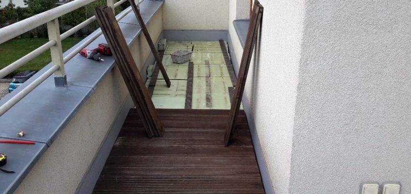 Pokládka podlahy na terasu