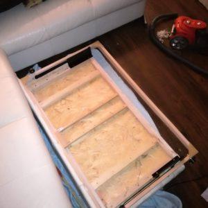 Oprava výsuvné postele