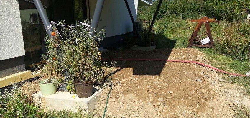 Příprava pokládky terasy