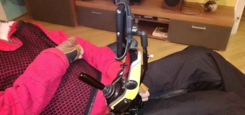 Výroba držáku telefonu na invalidní vozík