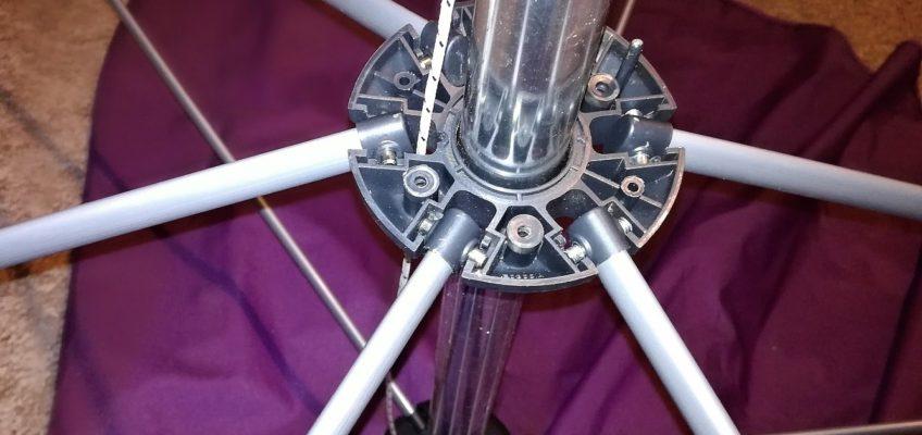 Oprava mechanismu slunečníku