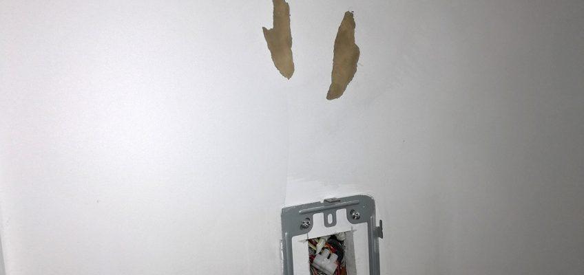 Tapetování stěn jídelny