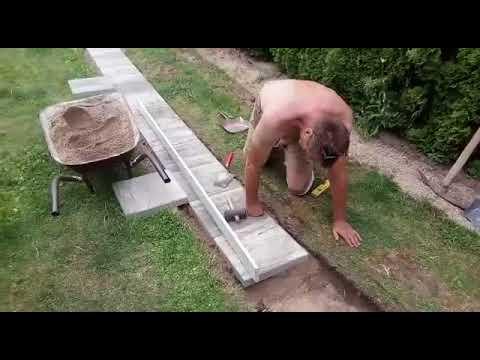 Pokládka betonové dlažby