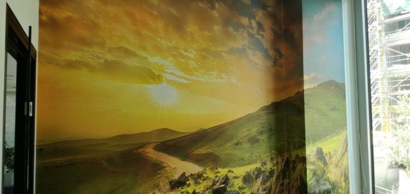 Tapetování fototapeta západ slunce